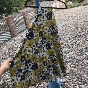 Floral Yellow Gray White Urban Outfitters Dress